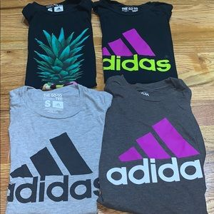Bundle of 4 USED Adidas Workout Shirts Women
